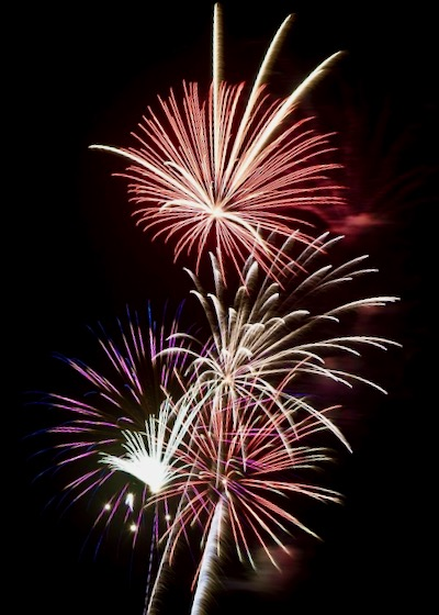 celebrate creating your website fireworks
